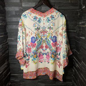 Zara Basics Boho Kimono Top - EUC - L